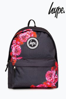 Hype. Black Border Rose Backpack