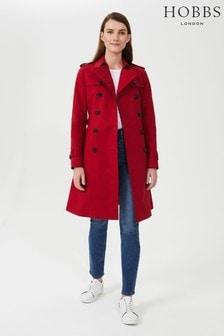 Hobbs Red Petite Saskia Trench Coat