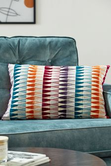 Brights Velvet Geo Cushion