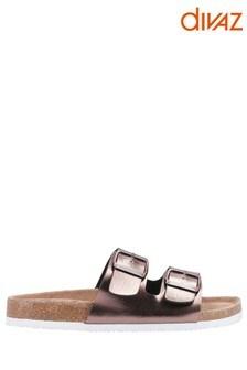Divaz Gold Chelsea Sandals