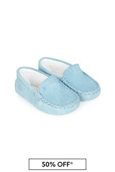 Tods Baby Boys Blue Leather Loafers