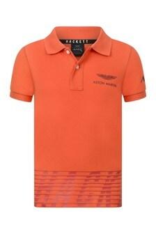 Boys Orange Short Sleeves Polo Top