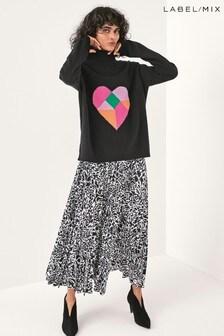 Next/Mix Painterly Animal Print Skirt