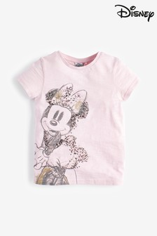 Pink Licence Minnie Mouse™ Sequin T-Shirt (3-16yrs)