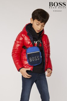 BOSS Red And Navy Reversible Padded Jacket