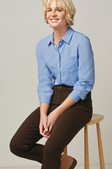 Chambray Blue Casual Boyfriend Shirt