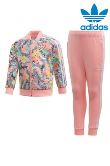 adidas Originals Little Kids Tropical Print Tracksuit