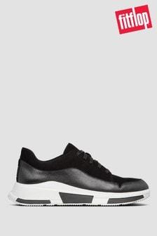 FitFlop™ Black Freya Suede Sneakers