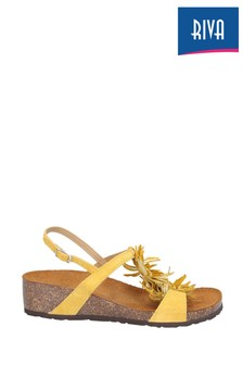 Riva Yellow Java Buckled Sling Back Sandals