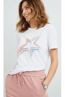 White Shooting Star Crew Neck T-Shirt