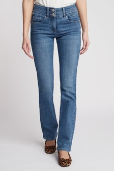 Mid Blue Lift, Slim And Shape Boot Cut Jeans