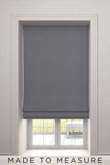 Imogen Graphite Grey Made To Measure Roman Blind