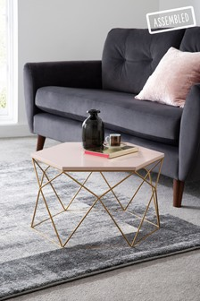 Blush Gold Hexagon Coffee Table