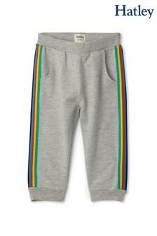 Hatley Grey Retro Stripe Baby Joggers