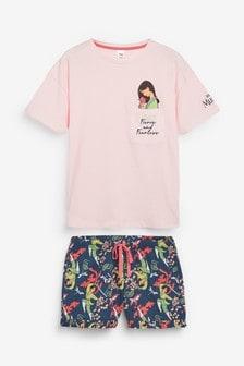 Pink Disney™ Mulan Short Pyjamas Set