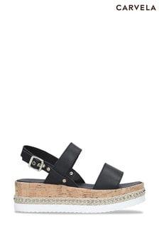 Carvela Black Krash Sandals