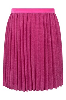 Girls Pink Pleated Skirt