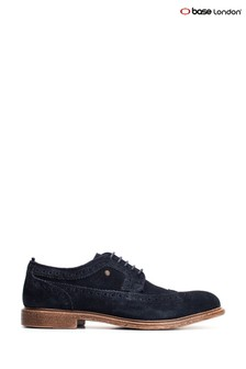 Base London® Blue Onyx Suede Lace-Up Brogues