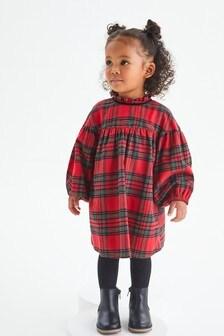 Red Check Cotton Dress (3mths-7yrs)