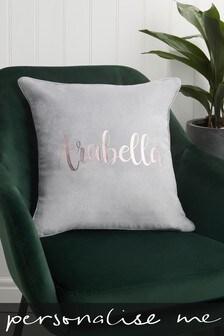 Personalised Velour Cushion
