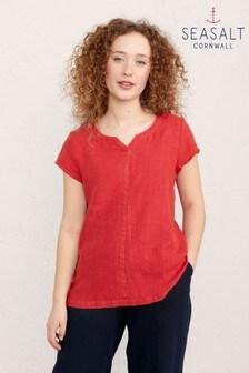 Seasalt Red Okanum Top
