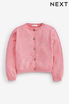 Pink Bobble Cardigan (3mths-10yrs)