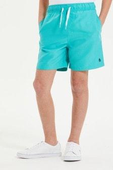 Original Penguin Blue Branded Swim Shorts
