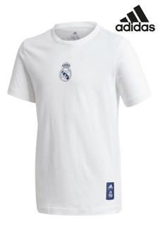 adidas White Real Madrid Graphic T-Shirt