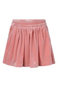 Girls Pink Velour Skirt