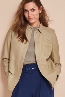 Neutral Leather Shirt