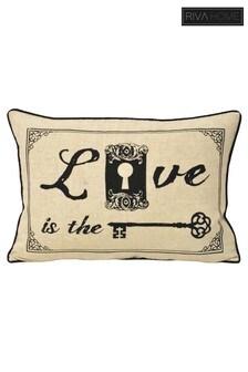 Keys Love Cushion by Riva Home