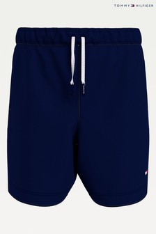 Tommy Hilfiger Blue Tommy Solid Drawstring Swim Shorts