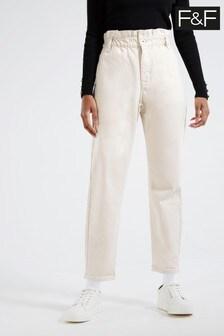 F&F Ecru Mom Jeans