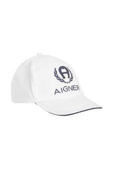 Aigner Boys White Cotton Hat