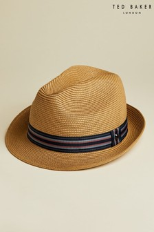 Ted Baker Elite Straw Trilby Hat