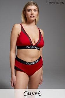 Calvin Klein Red CK Curve High Waist Bikini