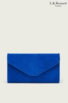 L.K.Bennett Blue Dominica Clutch Bag