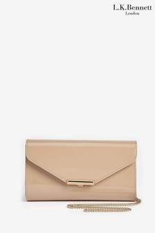 L.K.Bennett Brown Lucy Envelope Clutch