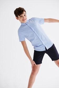 Blue Short Sleeve Oxford Shirt (3-16yrs)