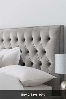 Wool Blend	Grey Parisian II Headboard
