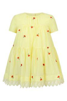 فستان قطن أصفربناتي