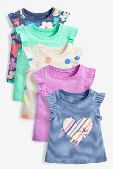 Bright 5 Pack Vests (3mths-8yrs)