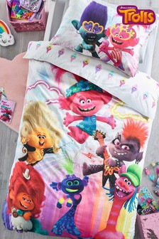 Trolls World Tour Reversible Duvet Cover and Pillowcase Set