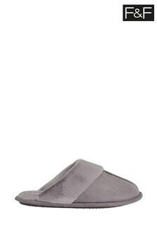 F&F Grey Hardsole Slippers