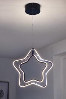 Navy Blue Star LED Ceiling Light