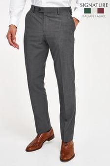 Grey Regular Fit Signature Suit: Trousers