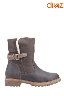 Divaz Melanie Mid Buckle Boots
