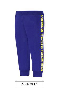 Versace Baby Boys Blue Cotton Joggers
