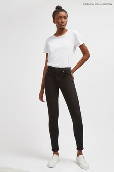 "French Connection Black R Rebound 30"" Skinny Jeans"