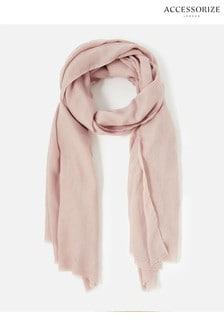 Accessorize Pink Sorrento Lightweight Scarf
